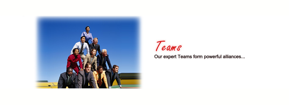 Teams: our expert teams form powerful alliances